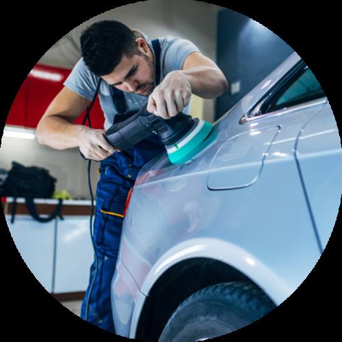 Olie-afscheider auto poetsen