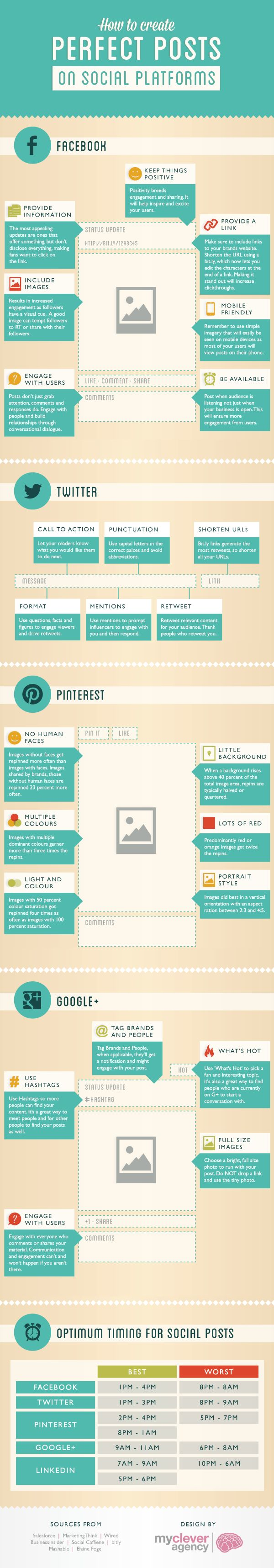 social media tips infographic