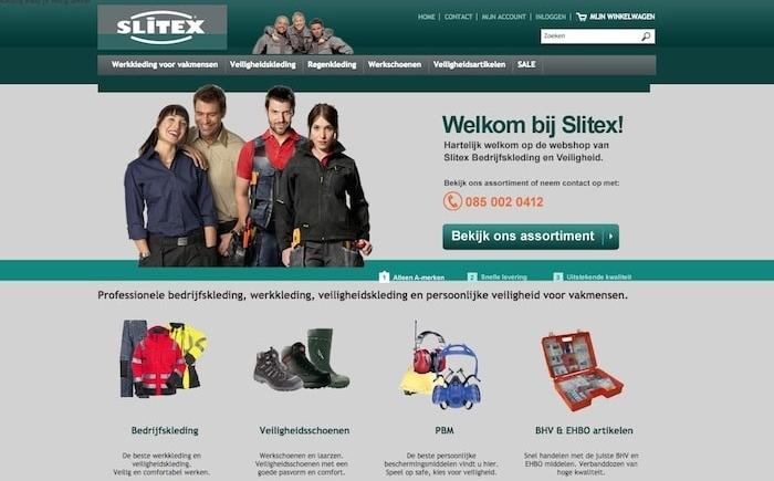SEO campagne Slitex bedrijfskleding