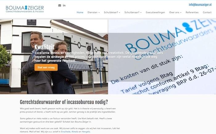 Bouma & Zeiger gerechtsdeurwaarders SEO