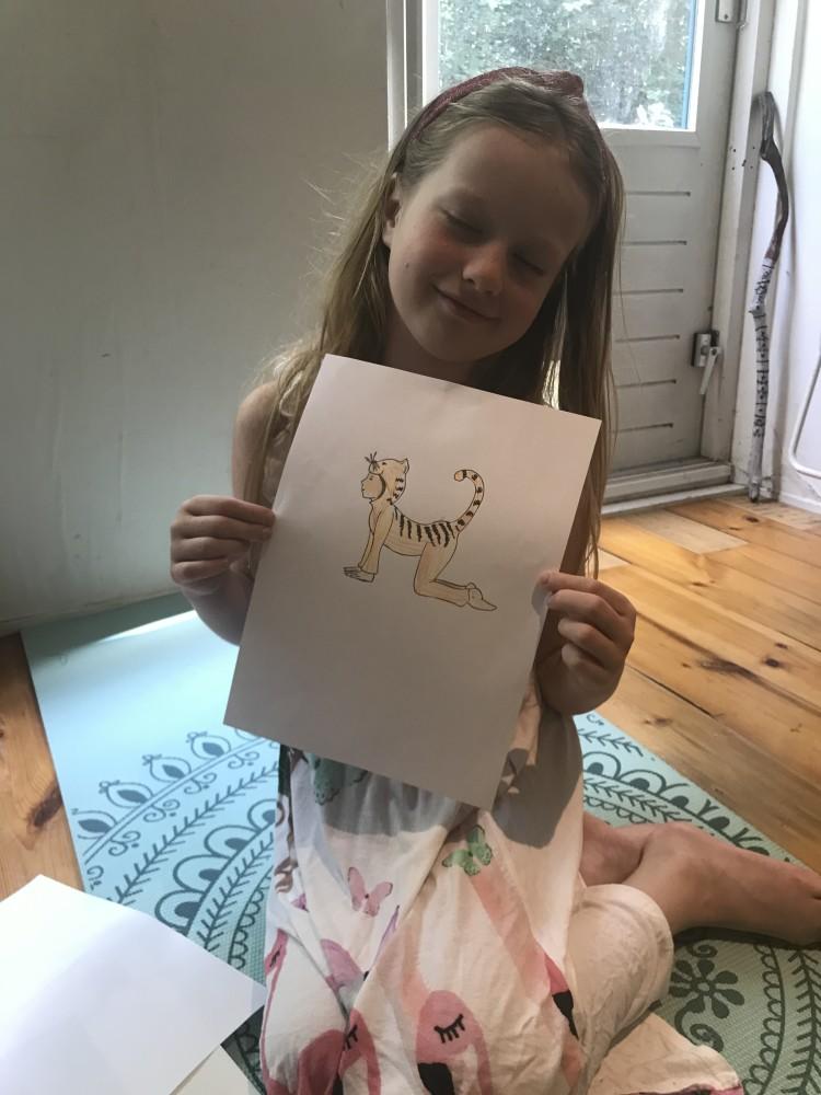 tekenen tijdens de kinderyoga