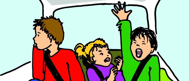 14 mindful spelletjes voor in de auto....relaxed op reis!