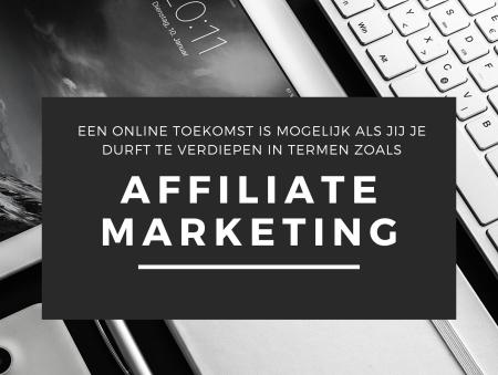 Deze afbeelding toont een promotie voor affiliate marketing.