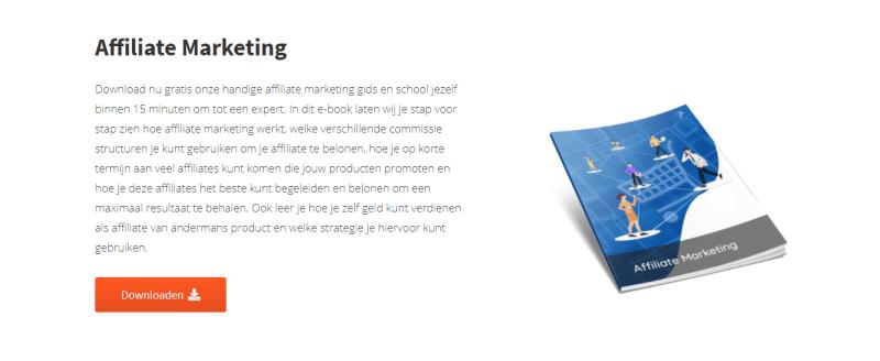 Op deze afbeelding zie je het affiliate marketing E-book van IMU over Plug & Pay. Hierin leer je alles over het inzetten van affiliate marketing.