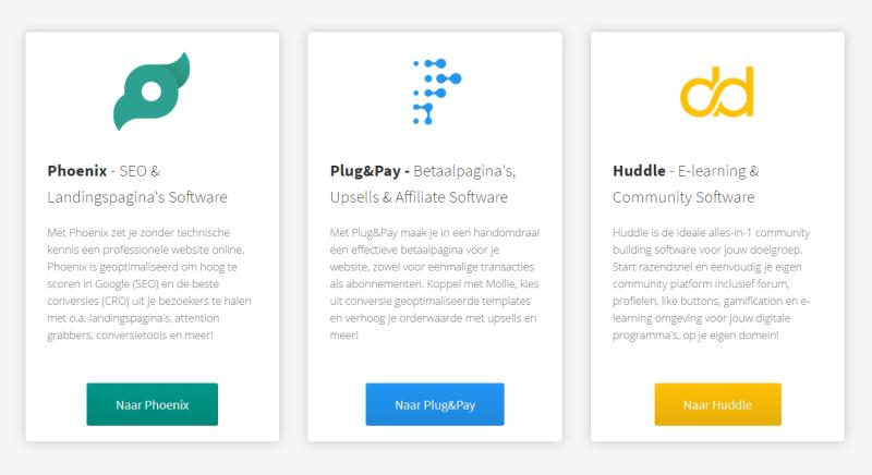 De Beste E Learning Software in Nederland is een leeromgeving van Huddle in combinatie met een Phoenix Website en een Online Betaalsysteem van Plug & Pay. Draai jij jouw E Learning Producten al op deze software?