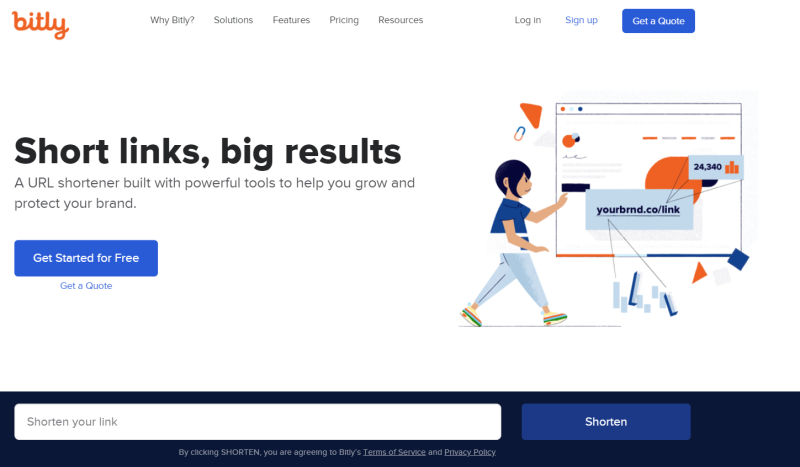 In deze afbeelding zie je waar je je uitgaande Links via een Bitly Lunk Url kunt verkorten. Deze gratis tools is handig voor marketeers!