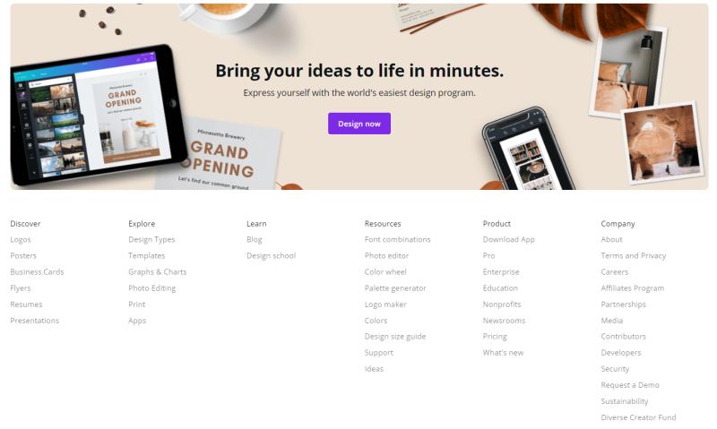 Canva is een geweldig programma om laagdrempelig met grafisch design aan de slag te gaan. Dit is zeer effectief voor startende online ondernemers.