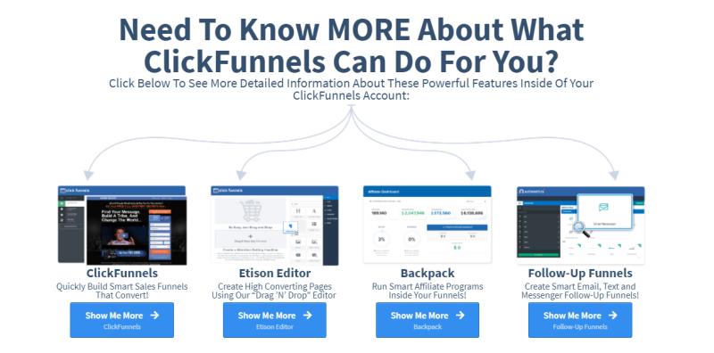 Op deze afbeelding zie je een promotie voor Clickfunnels. Start hier mee als online ondernemer en je brengt je Business in een stroomversnelling!