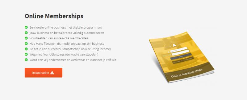 Dit E-book gaat over Online Memberships en hoe deze toegepast kunnen worden via Huddle.