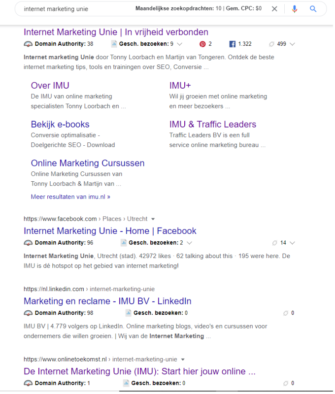 In de Phoenix Review laat ik enkele resultaten zien in de zoekmachine, waarin ik in 6 weken mijn tweede plek in de zoekmachine had, zonder ervaring met SEO!