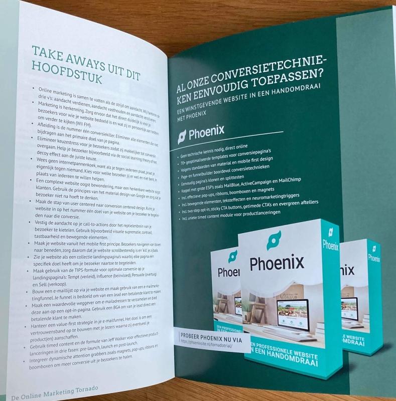 Phoenix Website Ervaringen wijzen uit dat de conversie flink omhoog gaat wanneer jij weet wat je met een Phoenix Website moet doen. Lees in de Online Marketing Tornado de Promotie van Phoenix!