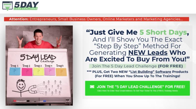 Russell Brunson geeft regelmatig Webinars en in dit geval gaat het om een Lead Generatie Webinar. Hiermee laat hij zien hoe je via Clickfunnels nieuwe leads kunt scoren!