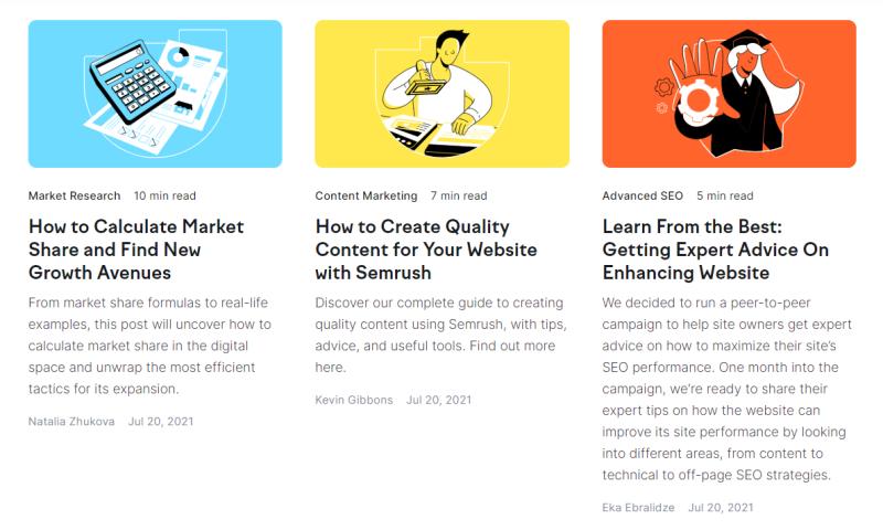 Via Semrush Blog kun jij artikelen lezen over hoe jij jouw content strategie kunt optimaliseren via Semrush. Dit is erg interessant voor online marketeers op elk niveau!