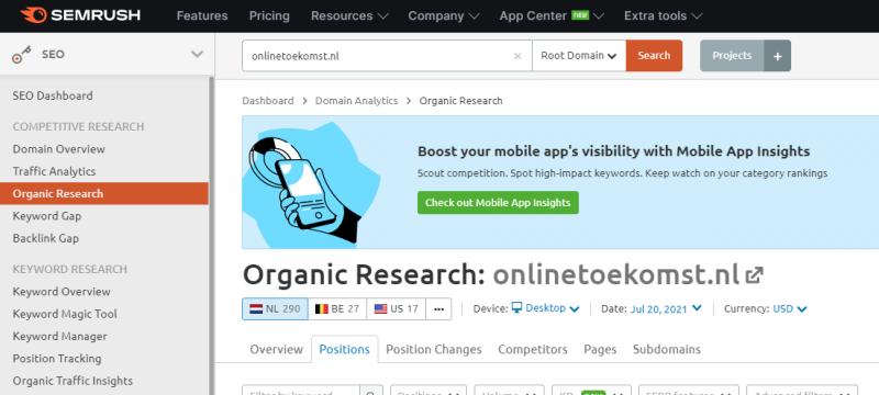 In deze Semrush Review laat ik zien hoe je als online marketeer kunt werken aan een betere positie in de zoekmachine van Google. Je doet dit door via Semrush gebruik te maken van de data over concurrenten, jouw eigen websites en algemene zoekvolumes.