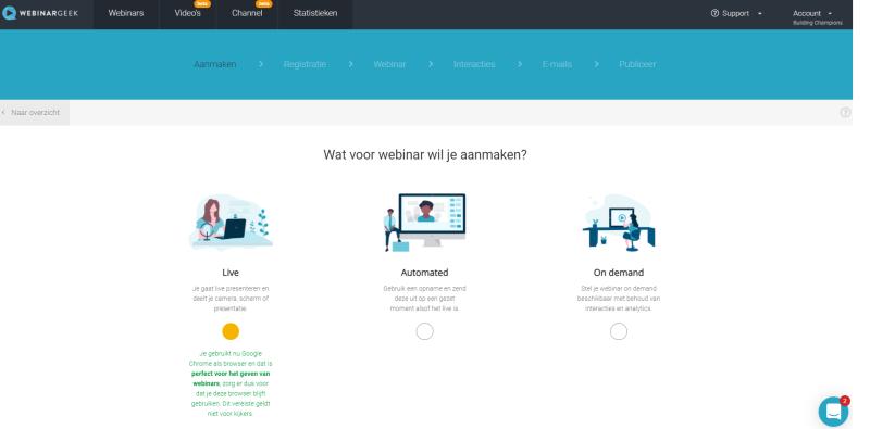 Via Webinar Geek een Webinar Organiseren is in enkele uren gebeurt als jij weet hoe het programma werkt! Wanneer ga jij aan de slag met WebinarGeek voor live of automated webinars?
