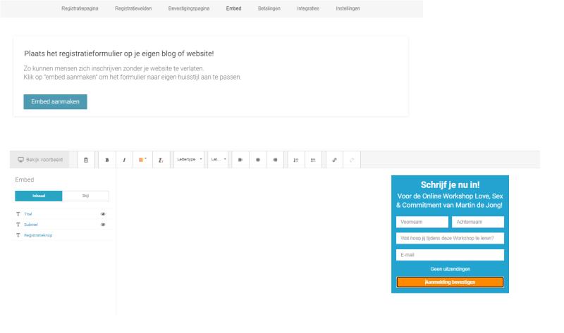 Aanmelden voor een Webinar Geek Webinar? Je kunt het doen via een Embed Formulier op je eigen website of door het te verspreiden via je mailinglijst!