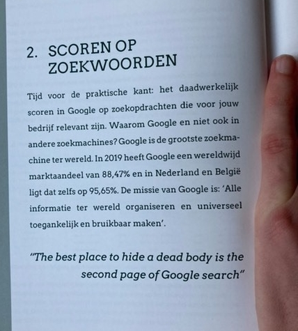 Dit zoekmachine marketing boek leert je alles over SEO en hoe je dit kunt toepassen om via het online marketing tornado model gratis bezoekers uit Google te krijgen.