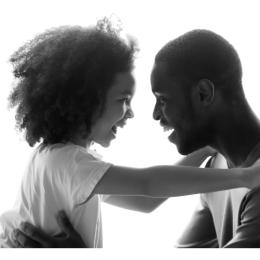 verbonden blij relatie vader dochter