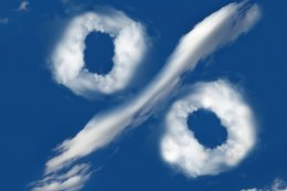 wolken die percentageteken aangeven alimentatie