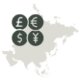 What is the Currency in Asia?