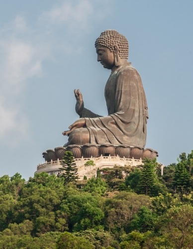 Big Buddha Lantau Island Kong Kong