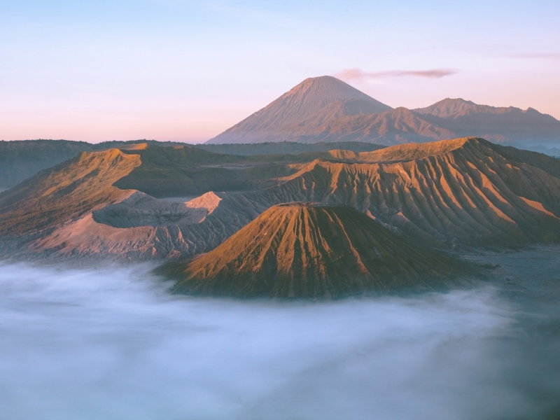 Mount Bromo Volcana in Java, Indonesia