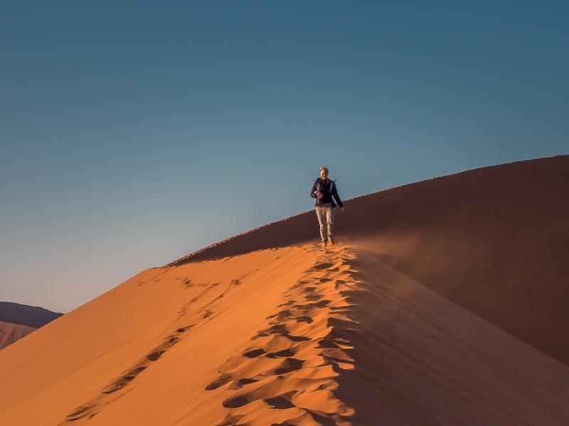 Climbing Dune 45 Namibia