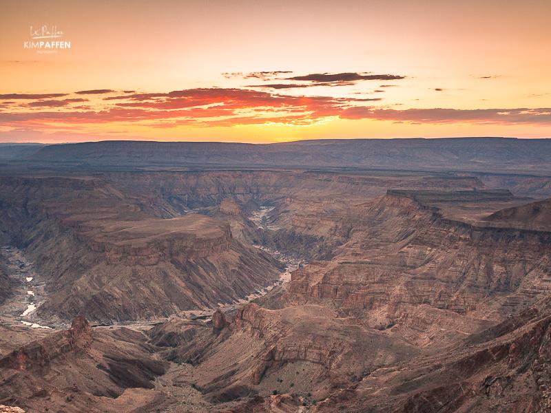 Fish River Canyon Namibia at sunset
