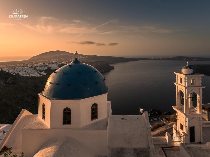 Santorini Travel: Blue Domed Church Imerovigli
