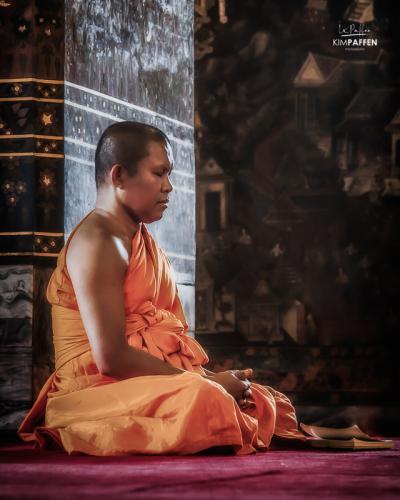 Monk in Bangkok Thailand