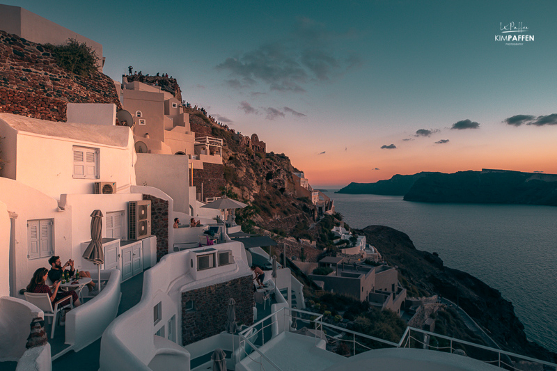 Sunset in Oia during COVID-19 with less tourists