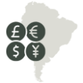 What is the currency in South America?