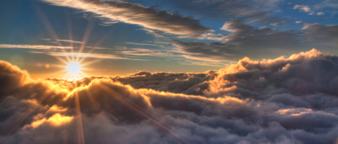 Behind the lens of creating the 'sunrise above the clouds' image