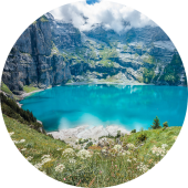 Travel to Western Europe: visit Oeschinen Lake in Switzerland
