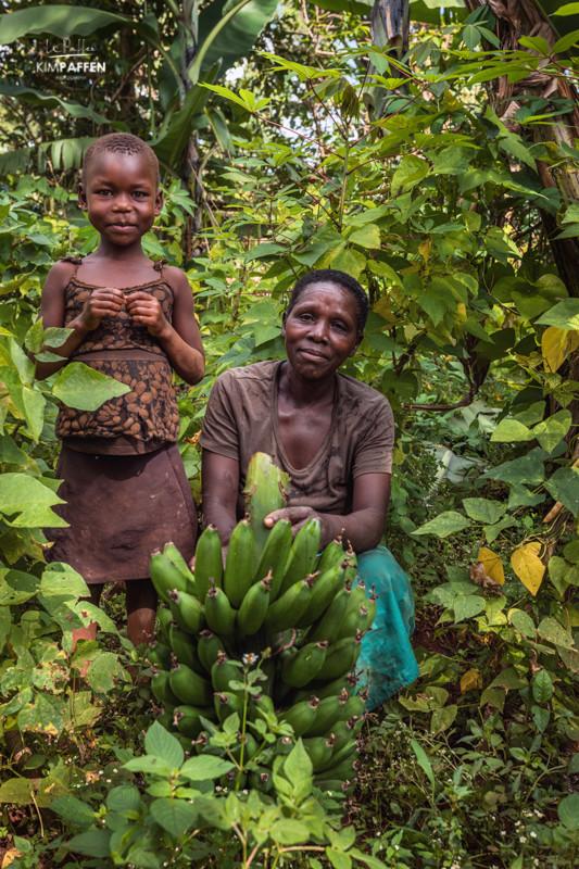 Visiting local banana plantations in Sipi Falls Uganda