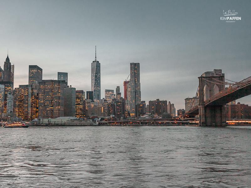 USA Travel: New York City Skyline from Brooklyn Hights