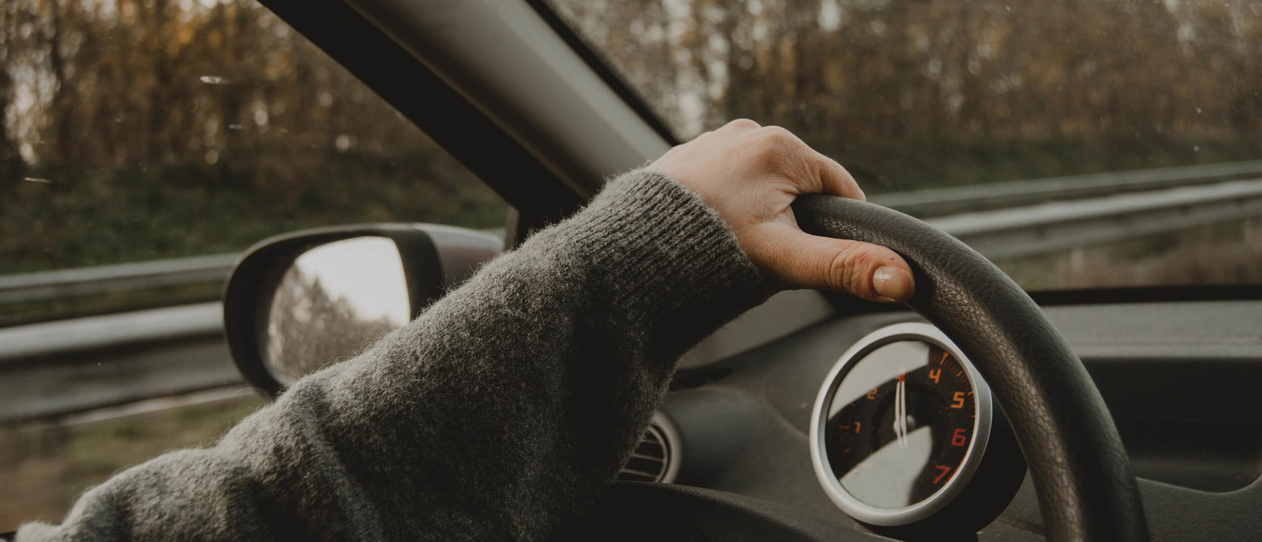 Alleen een eind autorijden