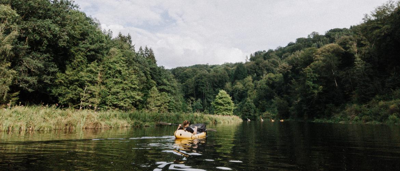 Packraften in de Ardennen: wandelen met een opblaasboot