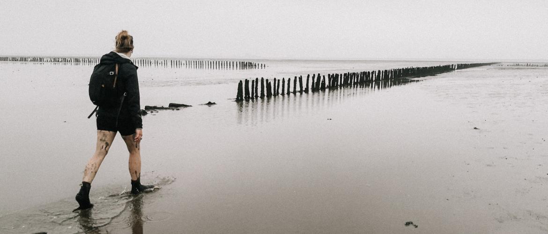 Wadlopen: glibberen op de bodem van de Waddenzee