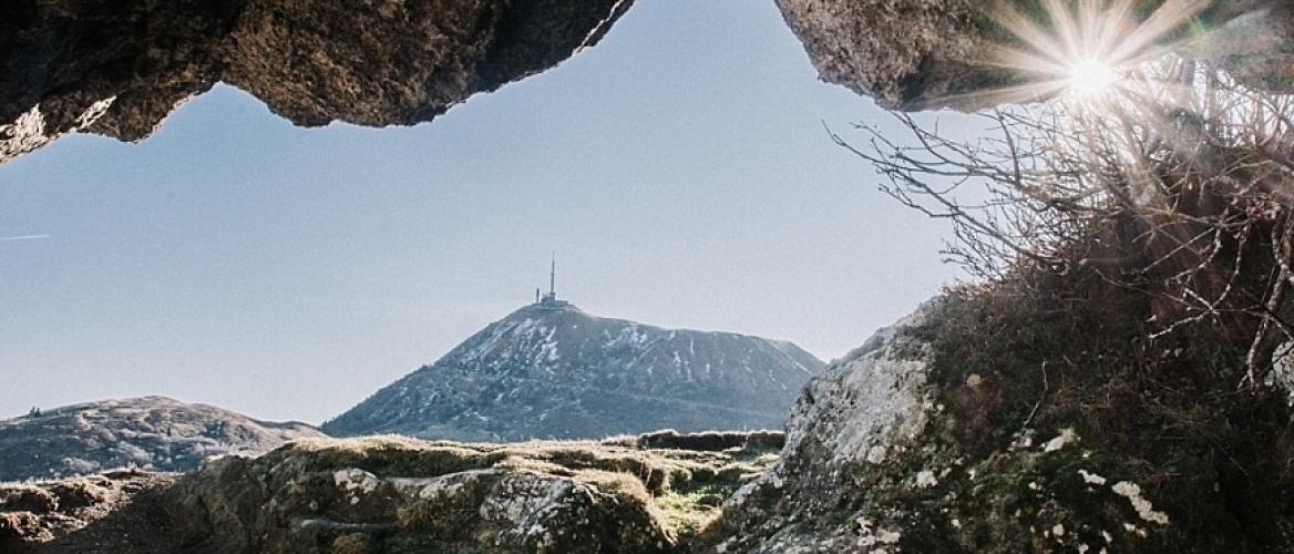 Wandelen op de Puy de Dôme in de Auvergne