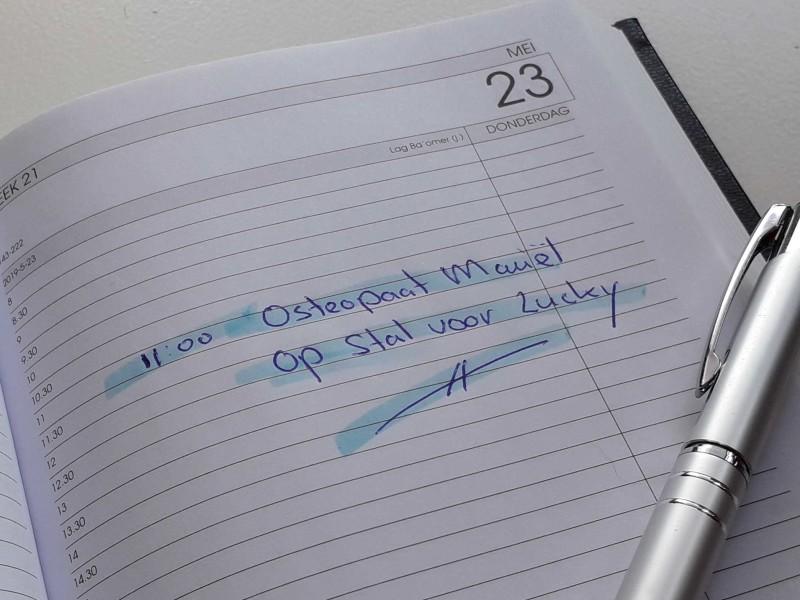 Agenda met pen