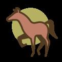 Icon van bruin paardje
