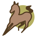 Icon bruin paard
