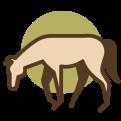 Icon paard met pijn
