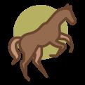Icon van vitaal paard