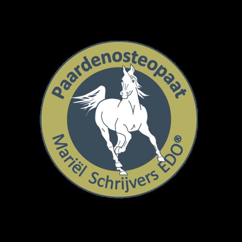Logo van Paarden osteopaat Mariël Schrijvers (EDO)