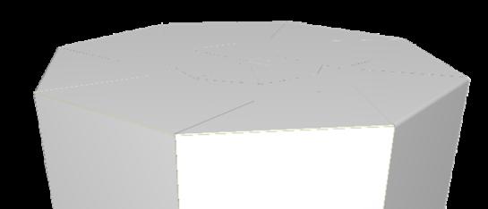 Achtkantige vouwverpakking