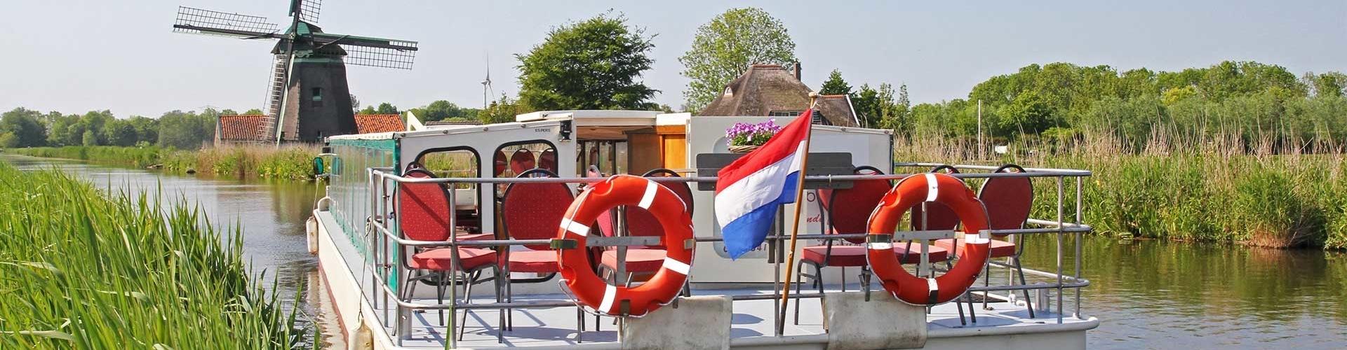 Partyboot De Koperen Hoorn bij de molen