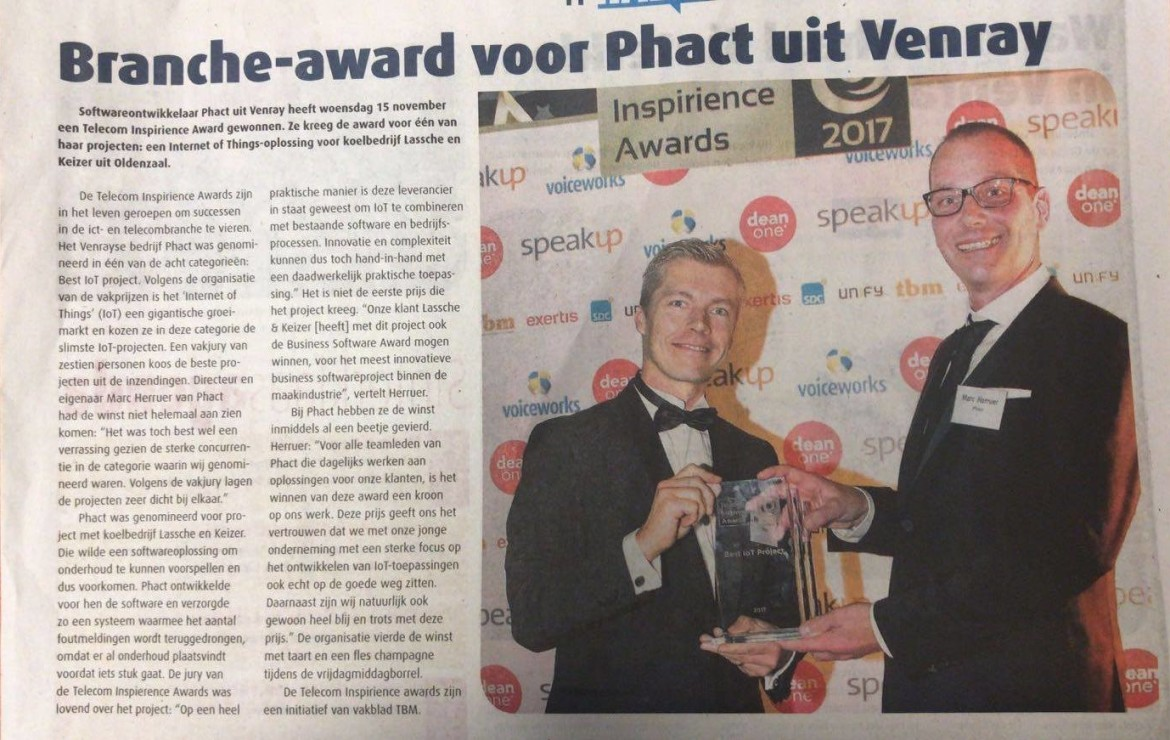 Phact wint 'Best IoT-project'Award