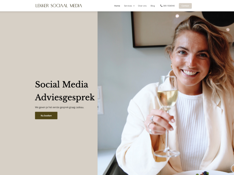 Voorbeeld Phoenix website Lekker Sociaal Media